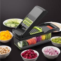 Mandolina do warzyw owoców ręczna nowoczesna funkcjonalna wielorazowa praktyczna do kuchni