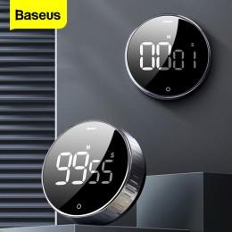 Baseus LED cyfrowy zegar kuchenny do gotowania prysznic Study Alarm stoper zegar magnetyczna elektroniczna do gotowania odliczan