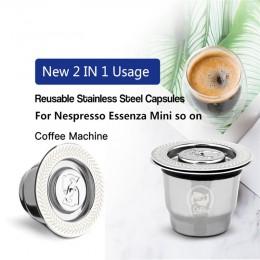 Wielokrotnego użytku kapsułka ze stali nierdzewnej do uzupełnienia kawą mieloną do ekspresu srebrna