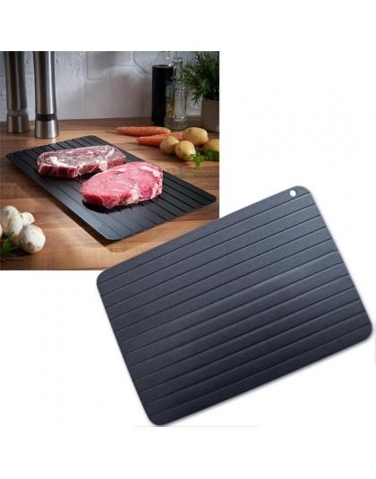 1 sztuk taca rozmrażania szybka rozmrażanie do mrożonego mięsa ryby talerz morski deska taca do rozmrażania przyrząd kuchenny na