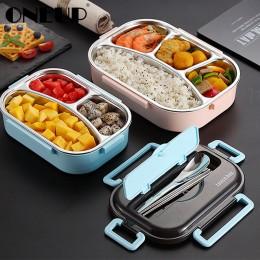 ONEUP Portable 304 pudełko na lunch ze stali nierdzewnej 2020 nowy gorący styl japoński pojemnik na pojemnik bento kuchnia szcze
