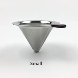 Filtr do kawy wielokrotnego użytku uchwyt ze stali nierdzewnej siatka metalowa lejek kosze Drif filtry do kawy kroplówki v60 fil