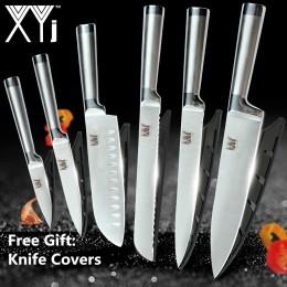 XYj zestaw noży kuchennych ze stali nierdzewnej owoce narzędzia do krojenia Santoku Chef krojenie chleba japoński nóż kuchenny z