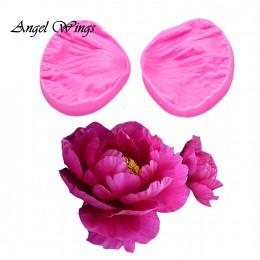 3D piwonia płatki kwiatów tłoczony silikon formy ulga narzędzia do dekorowania ciast masą cukrową czekolada Gumpaste gliniane fo