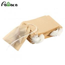 100 sztuk/partia torebka na herbatę-papier filtracyjny do herbaty torby uszczelnienie termiczne torebki sitko do herbaty zaparza