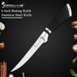 """Sowoll nóż kuchenny 8 """"7"""" calowy nóż do trybowania wysokiej Quliaty nóż ze stali nierdzewnej do kości mięso ryby owoce warzywa n"""