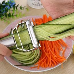 Obieraczka ze stali nierdzewnej ogórek warzywny marchew owoce ziemniak podwójne struganie tarka struganie akcesoria kuchenne prz