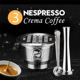 ICafilas stal nierdzewna wielokrotnego użytku do kapsułki Nespresso z prasą młynek do kawy ze stali nierdzewnej sabotaż ekspres
