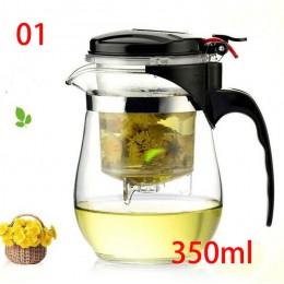 Wysokiej jakości szkło odporne na ciepło czajniczek chiński zestaw do herbaty kung fu czajnik do pu-erh szklanka do kawy ekspres