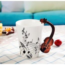 Kreatywny skrzypce muzyczne styl gitara kubek ceramiczny kawa herbata mleko klepka filiżanki z uszkiem kubek kawy nowości na pre