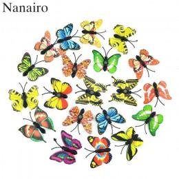 12 sztuk Multicolor magnes 3D pcv kwiat motyl naklejki ścienne dla dziewczyny dzieci pokoje dla dzieci dekoracja kuchenna klej d