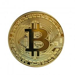 1 sztuk pozłacane Bitcoin moneta prezent kolekcjonerski casascius bit Coin bitcoiny kolekcjonerskie fizyczne pamiątkowa moneta T