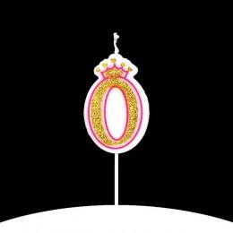Cakelove 1 sztuk w kolorze błyszczącego złota różowy/niebieski szczęśliwy numer urodzinowy świece 0-9 dla dzieci dorosłych dziew