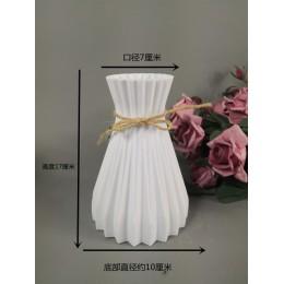 Wazon dekoracja domowa wazon plastikowy biały rattan nowa talia wazon rzemiosło wazon dekoracja domu kwiat dziewczyna kosz na śl