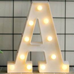 Świecące led Letter lampka nocna alfabet angielski numer lampa wesele dekoracja dekoracja bożonarodzeniowa akcesoria