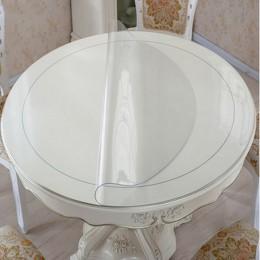 Wodoodporny Pvc obrus okrągły obrus obrus przezroczysty kuchnia wzór oleju obrus szkła ściereczka 1.0mm mata