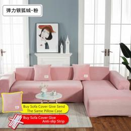 Jednolity kolor grube aksamitne uniwersalny elastyczny narzuta na sofę dla sofa do salonu ręcznik antypoślizgowe narzuta na sofę