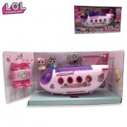 LOL niespodzianka lalka oryginalne lalki lols niespodzianka samolot zabawki figurki anime samolot kolekcja modeli DIY urodziny p