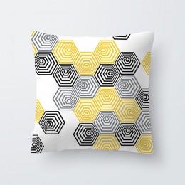 Lato ananas liść kwiat drukuj poszewka na poduszkę z możliwością personalizacji geometria żółte czaszki rzuć poszewka dekoracyjn