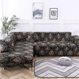 Elastyczna narzuta na sofę Slipcovers L shape narzuta na sofę s do salonu elastan tanie przekrój narzuta na sofę 1/2/3/4 Seater