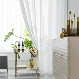 Białe firany tiulowe do dekoracji salonu nowoczesna szyfonowa solidna zasłona kuchenna Voile