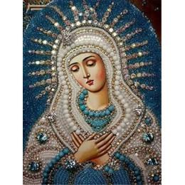 LZAIQIZG diamentowa mozaika pełna wiertło kwadratowa ikona religia diamentowa malowanie maryi panny Rhinestone haft z diamentami