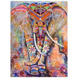 """Diamant malowanie 5D DIY diamentowe malowanie pełne diamentowe kwadraciki """"kolorowy słoń"""" haft haft krzyżykowy na prezent Home D"""