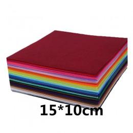 40 sztuk/zestaw 15*10cm Diy Handmade nietkana tkanina filcowa tkanina poliestrowa robótki igły do szycia czuł tkaniny zabawki wy