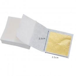 24K złoty liść jadalne złote arkusze folii na narzędzie do dekoracji ciast maska na twarz sztuka i rękodzieło papier do domu 10